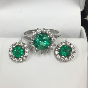 Jewelry - SOLD  SOLD SOLD  Emerald & Diamond Set